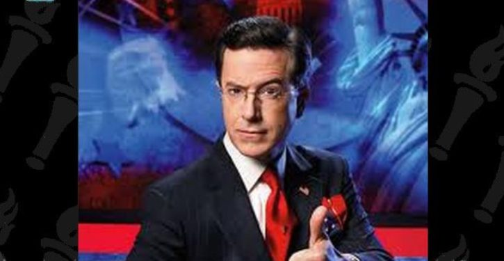 Stephen Colbert goes after WHICH network for asserting the riots have been violent?