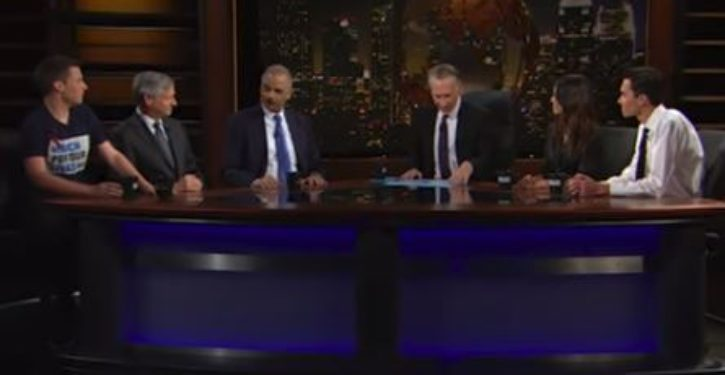 Eric Holder, poster child  David Hogg discuss gun control strategy on Bill Maher's 'Real Time'