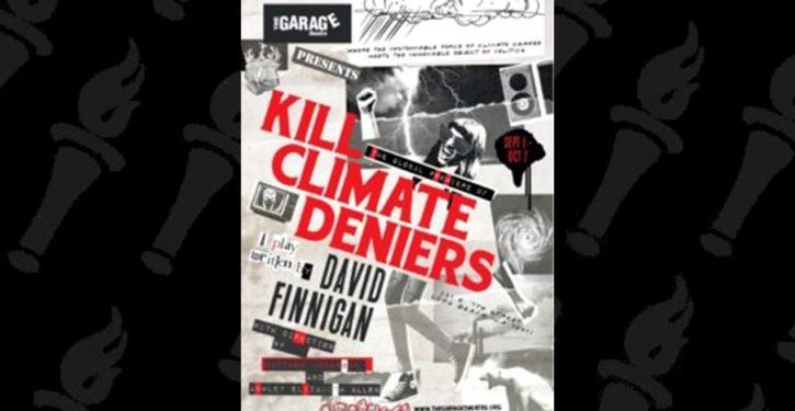 Australia: Play with catchy title 'Kill Climate Deniers' on first big run in Sydney