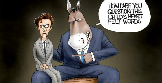 Cartoon of the Day: Mouths of babes by A. F. Branco
