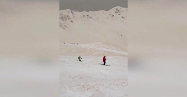 Weird 'orange snow' phenomenon in Southern Russia, Southeast Europe