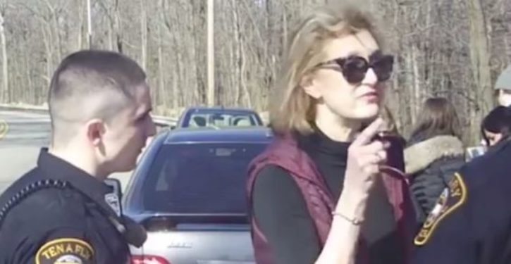 Former Clinton aide caught on video telling cops to 'shut the f**k up' gets her just deserts