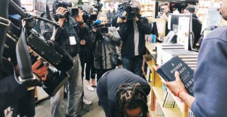 Members of press greatly outnumbered customers at one D.C. bookstore selling Comey's book