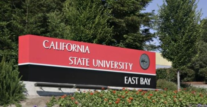 Cal State prof decorates office door with signs reading 'F*ck the A**hole in Chief,' more