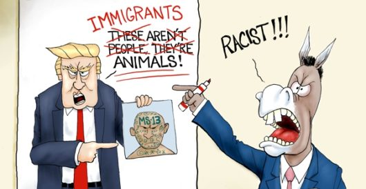 Cartoon of the Day: Fake racism news by A. F. Branco