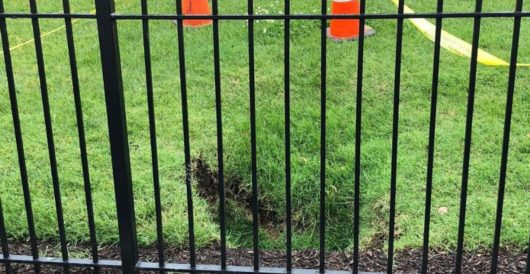 A sinkhole has formed on the White House lawn by J.E. Dyer