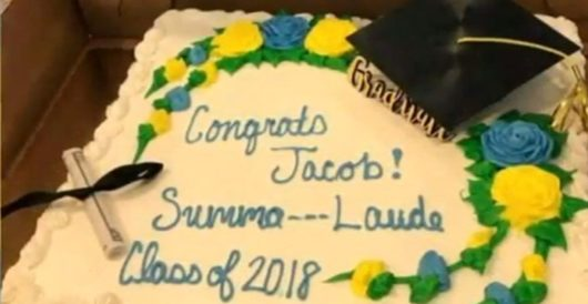 Summa — Laude: Publix censors overly erudite graduation cake by J.E. Dyer