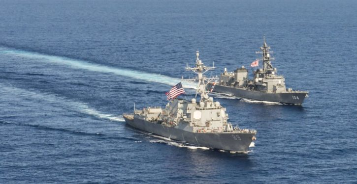 Two U.S. Navy warships challenge China's claims to South China Sea