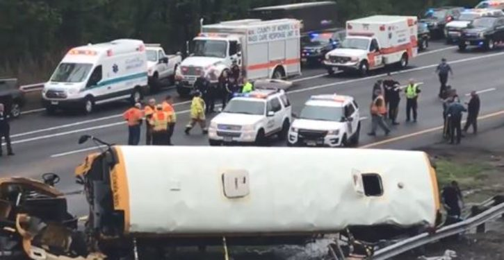 School bus in deadly N.J. crash missed exit, made U-turn