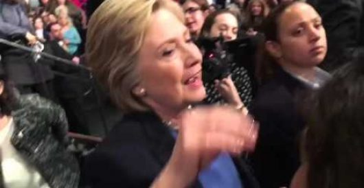 What happens when Hillary fields a question asked by a fellow diehard liberal? by Rusty Weiss