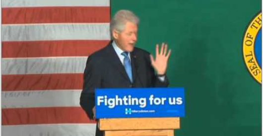 Now he's done it: Bill Clinton goes off script at rally and says this by Rusty Weiss