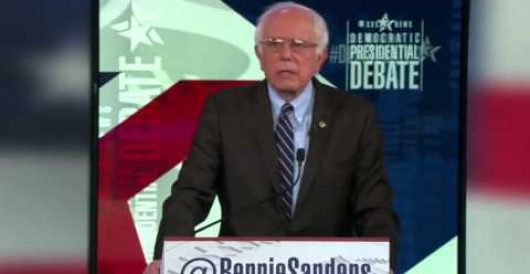 Asked to name greatest threat to America at Dem debate, Bernie Sanders says this by Howard Portnoy