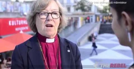 Lesbian bishop suggests removing crosses from church to make it welcoming for Muslims by J.E. Dyer