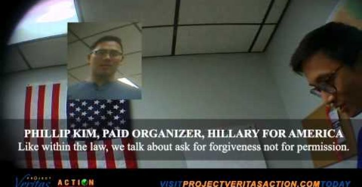 Undercover video shows Clinton campaign workers violating election law
