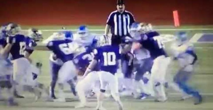 Watch HS football players' outrageous actions during Friday night game