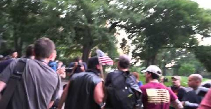 Activists show up to burn American flag, but patriots send them running