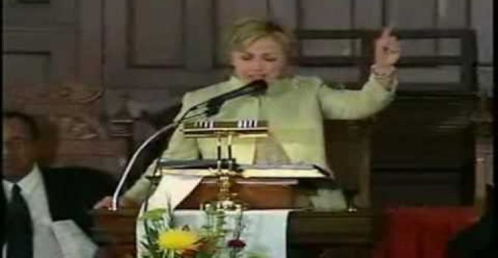 Hillary's Texas teleprompter speech panders to black Americans (Video)