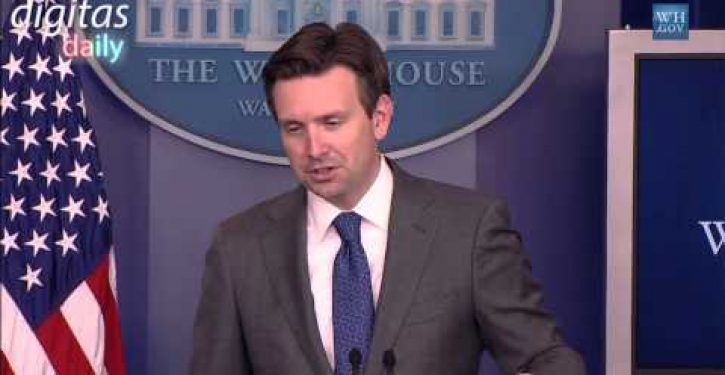 Josh Earnest on whether Obama undermines #EarthDay message with Air Force One flight (Video)