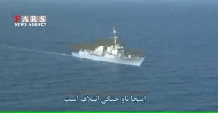 Iran edits video to claim victory over U.S. Navy (Video)