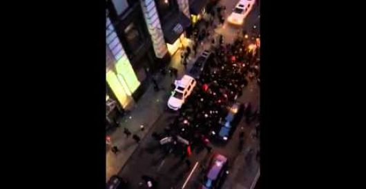NYC protesters chant: 'Shoot back! What do we want? Dead cops! When do we want it? now' (Video) by Howard Portnoy