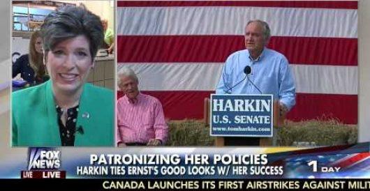 Iowa GOP Senate candidate Joni Ernst responds to Tom Harkin's sexist eye candy remark (Video) by Jeff Dunetz