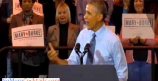 Obama breaks into blackspeak at Dem rally: 'It don't make no sense' (Video) by Howard Portnoy
