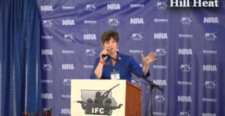 Left-wing media in conveniently timed meltdown over Joni Ernst gun comment from 2012 (Video)