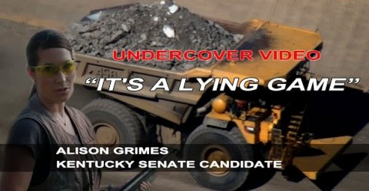Sting op exposes KY Senate hopeful Grimes's real (negative) views on coal (Video)