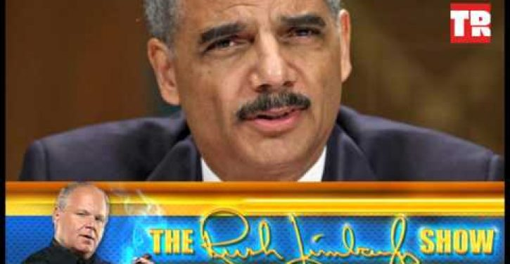 Rush Limbaugh: 'Prepare yourself' for Eric Holder nomination to Supreme Court