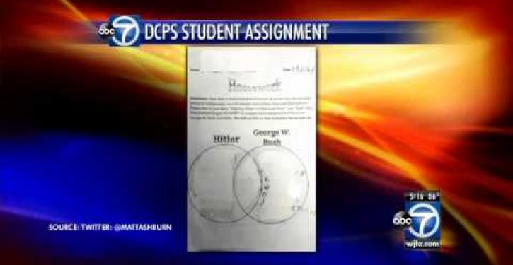 Elementary school students taught to compare Hitler to Bush, Obama to Lincoln (Video)
