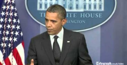 Finally, Obama draws a 'red line' that will not be crossed on his watch (Video) by Howard Portnoy