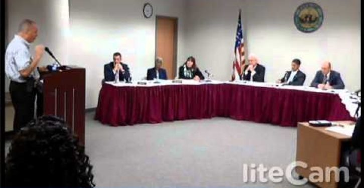 Councilwoman who claimed 'blacks are being rounded up and executed' storms out of meeting
