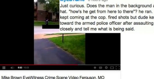 Video right after Michael Brown shooting: Does it confirm 'dude kept coming'? by J.E. Dyer