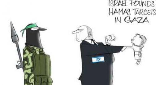 WaPo cartoon of Bibi punching Gaza baby 'disgusting,' says Jewish group (Video) by Michael Dorstewitz