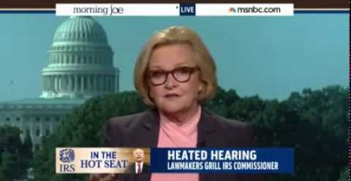 Kudos to Dem Senator Claire McCaskill for calling out arrogant IRS commissioner