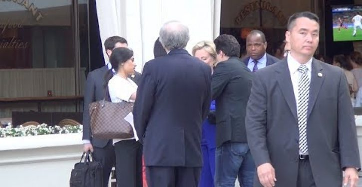 Video: Hillary asked to inscribe copy of her book to Chris Stevens