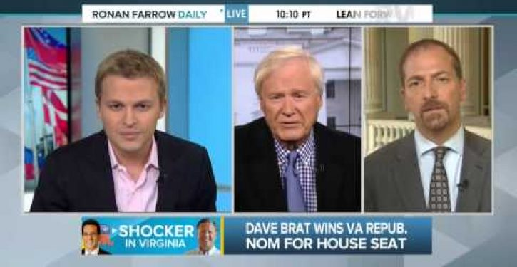 You'll never guess what's giving Chris Matthews a thrill up his leg now