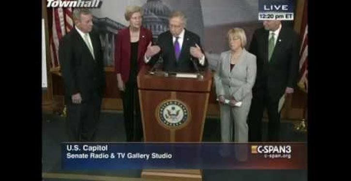Harry Reid sings Dem theme song: 'What difference does it make?'