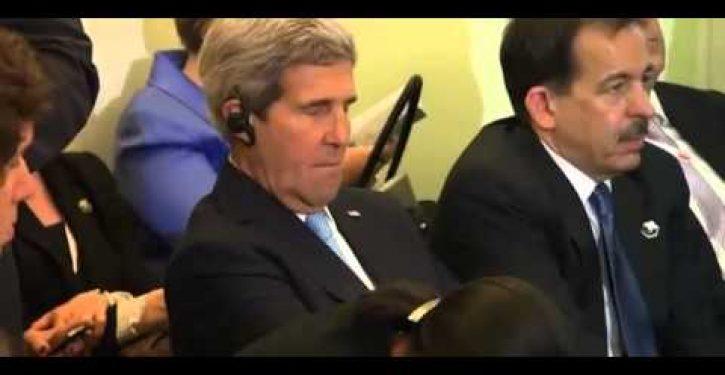 Video: John Kerry caught napping on the job