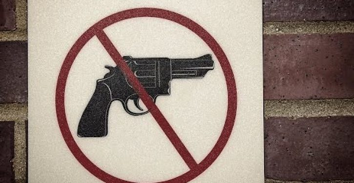 Recent robberies confirm 'gun free zones' are magnets for gunmen
