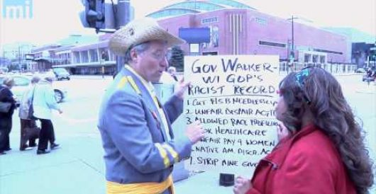 Dem assemblyman dressed in confederate uniform confronted by black GOP delegate (Video) by LU Staff