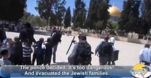 Muslim mob attacks young Jewish children atop Temple Mount by Jeff Dunetz