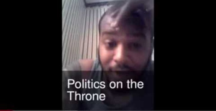 Video: Congressional candidate weighs in on issues of the day while seated on toilet