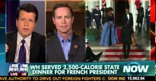 Hypocrisy alert: WH state dinner weighed in at 2,500 calories by LU Staff