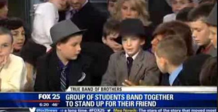 'Band of Brothers' rallies around team waterboy who was bullied at school