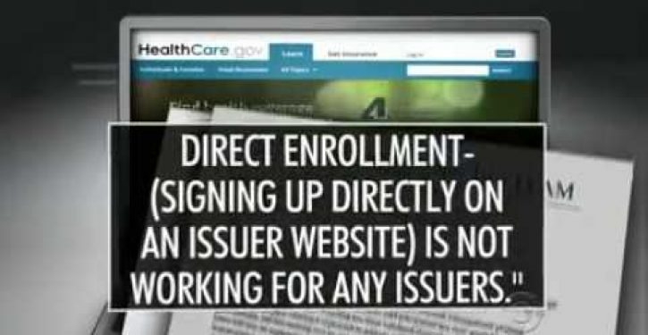 CMS memo obtained by CBS shows that 6 people signed up for Obamacare on Day 1