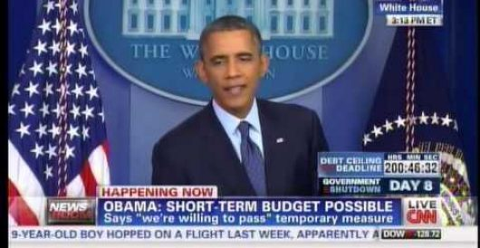 Obama's nonsensical answer to why he won't accept GOP's piecemeal funding fixes during shutdown by Howard Portnoy