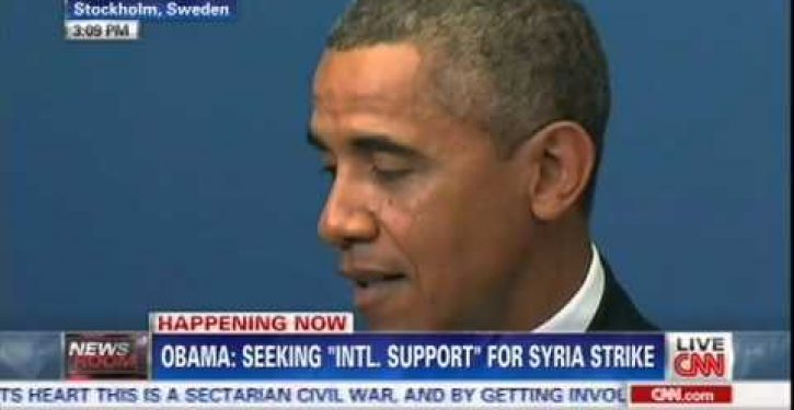 Obama: 'I never set a red line' for Syria