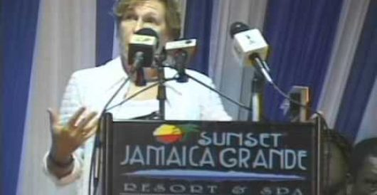 Union president attacks 'austerity-mongers' in speech at Jamaica resort by Mike Antonucci