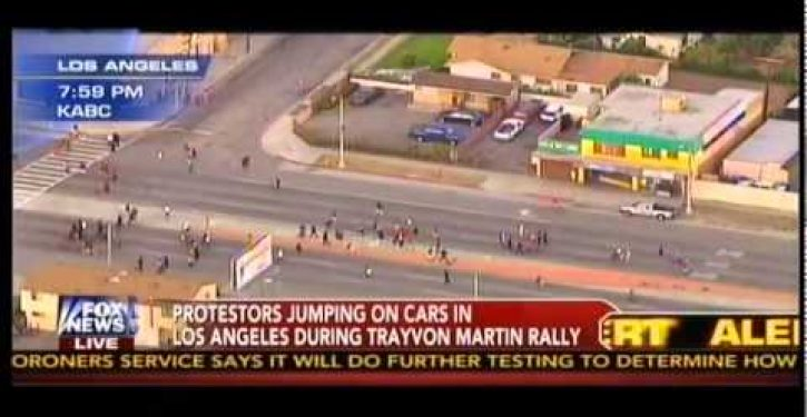 What was that libs were predicting about non-violent protests following the Zimmerman verdict?